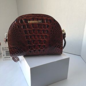 Brahmin Leah Pecan Leather Crossbody Bag